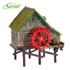12cm Aquarium Windmill Cottage Waterwheel Landscape Live Action Decor Ornaments