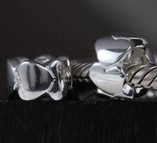 Original .925 Sterling Silber groß Liebe Herzen Charm Bead für European Armband