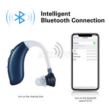 Bluetooth Rechargeable Digital Hearing Aid Severe Loss Invisible BTE Ear Aids