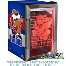 WESTERN BULLDOGS FOOTBALL CLUB OFFICIAL WEG ART GLASS DOOR BAR FRIDGE - 70LTR