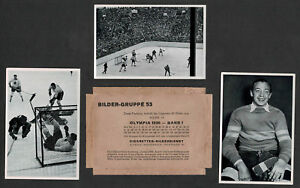 1936 IV Olympic Winter Games, Berlin, Hockey Pictures, Wrapper, USA vs Germany