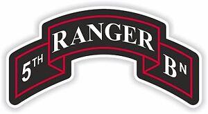 5th Ranger insignia Sticker Regiment US Army battalion military for Bumper Car