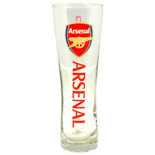 ARSENAL FC WORDMARK PERONI TALL BEER PINT GLASS 24 CM FOOTBALL NEW XMAS GIFT