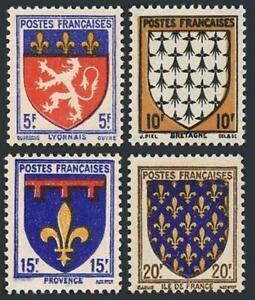 France 460-463,MNH.Michel 585-588. Coat of Arms 1943.Lyon,Brttany,Provence,