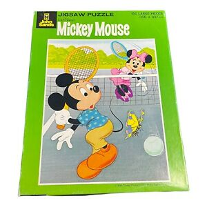 Vintage John Sands Disney Mickey Mouse Tennis 150 Pieces Jigsaw Puzzle Complete