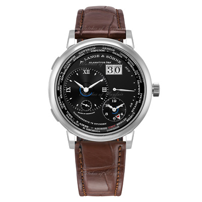 A. Lange & Söhne Lange 1 Time Zone White Gold Black Dial 41.9 mm 136.029 watch