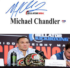Michael Chandler Signed Bellator MMA Dynamite Fight Used Name Tag Sign PSA/DNA