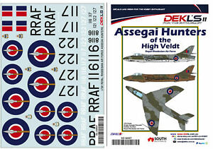 1/32 Hawker Hunter - Assegai Hunters of the High Veldt RhAF Decals DEK L's II