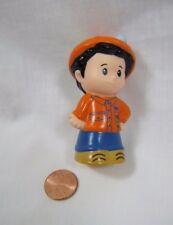 ZOO KEEPER from Fisher Price Little People HIPPO SET in ORANGE SHIRT & HAT Rare!