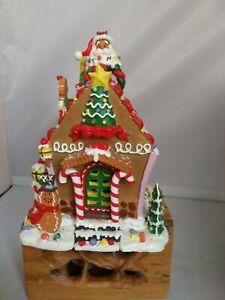 Vintage Christmas Gingerbread house Ornament Father Christmas