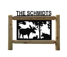 Personalized Moose Sign - Clingermans Outdoor Signs - Wildlife Art