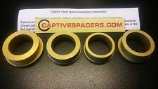 CBR1000RR CBR 1000 2004- 2007 Captive wheel Spacers.  Anodised Gold