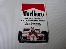 Ancien Autocollant  auto : MARLBORO 13° salon voiture et auto de course 1982