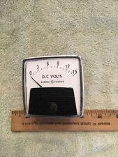 Vintage Radio Panel Meter Ge Dc Volts 0 15 Me528