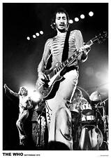 """WHO POSTER """"PETE TOWNSEND ROTTERDAM 1975"""""""