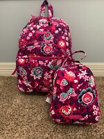 Vera Bradley Bloom Berry Essential Backpack & Lunch Bunch with Tags