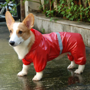 Pet Dog Waterproof Raincoat Reflective Rain Coat Sunscreen Dog Outdoor Jacket