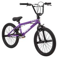 "Mongoose BMX Freestyle Bike Pegs Adjustable 20"" Wheels Purple Steel Frame Trick"