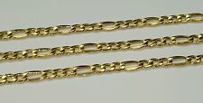 14k yellow gold Figaro link chain 20 inches 3.3 mm wide