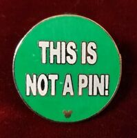 Disney WDW 2010 Hidden Mickey Series Pin Trading Phrases This Is Not A Pin