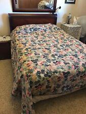 Vintage Designer King size DUVET COVER and King Bed Pillow Shams Floral Roses