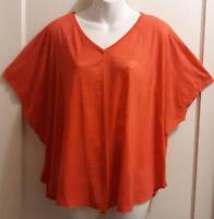 CATO Orange Stretch Top - Size XL