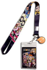 **Legit** Soul Eater All Characters Group Charm Badge ID Holder Lanyard #37744