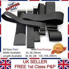 2x Adjustable velc Hook & Loop Luggage Tie Belt Bag Travel Fasten Strap 25-200cm