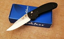 "Benchmade Griptilian 551 Folding Knife 3.45"" Satin Drop Point Plain Black NIB"