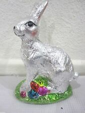 Easter Faux Foil Classic Chocolate Bunny Rabbit with Egg Decoration Decor 5 1/2""