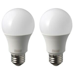 IKEA RYET LED bulb E26 1000 lumen, Warm White-globe opal 2 PACK 004.133.93 NEW