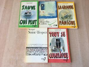 lot 5 livres de Sempé - Folio et Folio Junior / illustré format poche