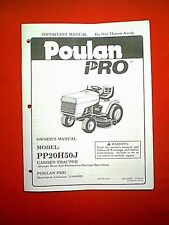 """POULAN PRO 20 HP HYDRO 50"""" GARDEN TRACTOR MODEL PP20H50J OWNER'S / PARTS MANUAL"""