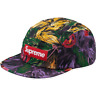 SUPREME PAINTED FLORAL CAMP CAP PURPLE FW17 HAT MULTI BLACK RED BOX LOGO CDG TNF