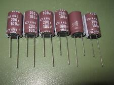 6 Stück - Elko NCC KMG 100µF/200V 105°C 16x26mm 2000h KMG201ELL101M 100uF 82uF