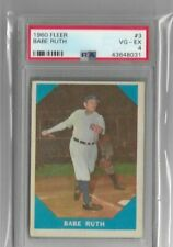 BABE RUTH 1960 FLEER BASEBALL #3 - GRADED PSA 4 VG - EX  - YANKEES