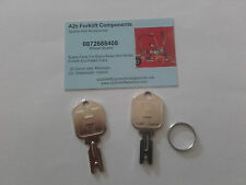 XX HYSTER / YALE FORKLIFT KEYS X 2  FREE EXPRESS DELIVERY UK