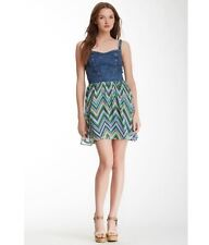 e0caa28a58 NWT NORDSTOM ANGIE DENIM BUSTIER CHEVRON DRESS SIZE M  49