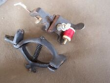 Vintage Thompson Fly Tying / Rod Winding Thread Holder & unknown iron clamp