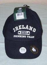 Black Ireland XXL Drinking Team Bottle Opener Baseball Cap Adjustable Embroidery