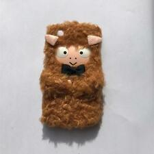 Fluffy sheep lamb phone cover for iPhone 4 or 4S! colour pink brown black case