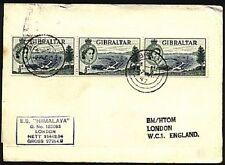 GIBRALTAR 1957 cover SS Himalaya ship cachet.......................19057