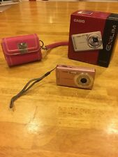 Casio Digital Camera Exilim w/ wristlet case