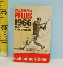 1966 Philadelphia Phillies Baseball Schedule Ballentine Beer