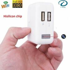 WIFI 1080P HD monitor security USB charger plug video Live Motion Cam DVR camera