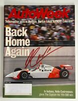 June 2001 AutoWeek Magazine Autographed by Indy 500 Winner Helio Castroneves