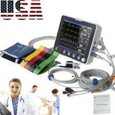 Icu Multi Parameter 8 Patient Monitor Vital Signs Hospital Cardiac Monitor