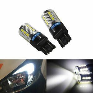 2 White T20 7443 7440 582 580 W21/5W LED Sidelight Daytime Running Light Bulb 6W