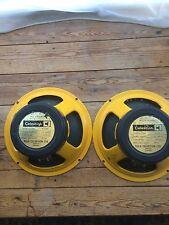 """CELESTION 12"""" guitar speaker vintage années 70 billet vert jaune Cadre Marshall"""