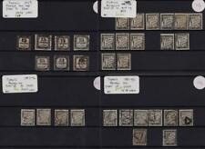 FRANCE: 1859-1892 Collection of Used Postage Due Examples- 8 Stock Cards (34929)
